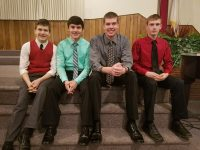 Jonah Cash, Everett Jackman, Jack Bauska and Glen Zumstein for Midweek Passion Service